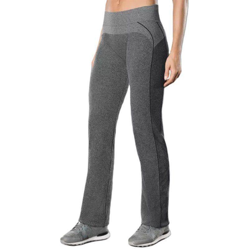 Calça reta feminina para academia fitness Lupo 71594