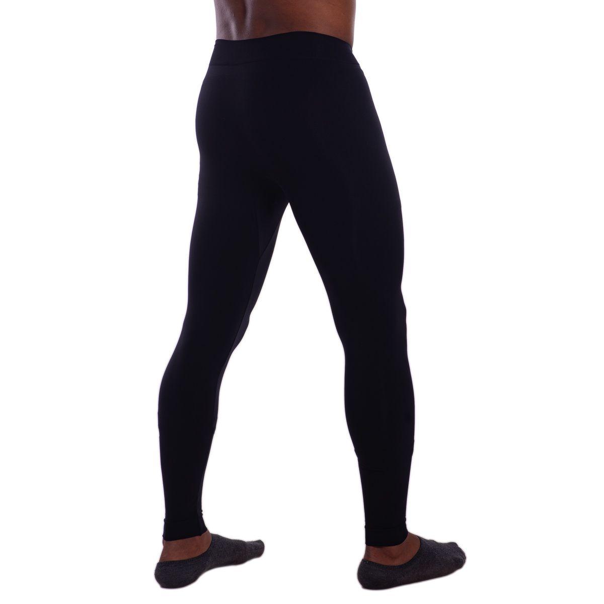 Calça segunda pele térmica e sem costura masculina Lupo