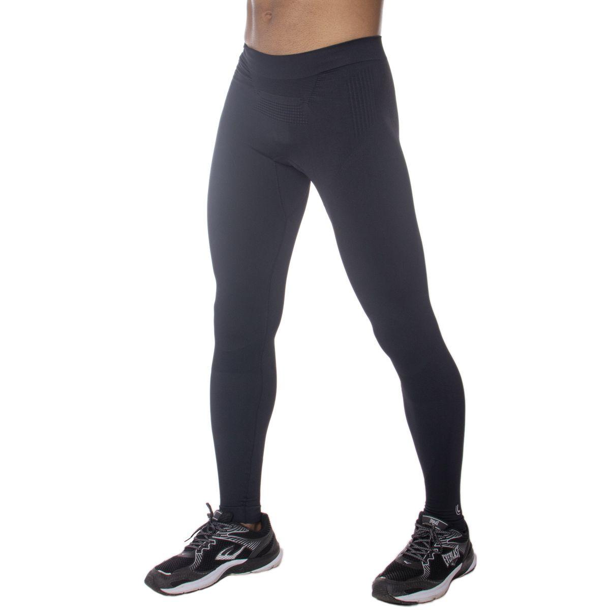 Calça Térmica Masculina Lupo Sem Costura - Calça Compressão  X-RUN EMANA Lupo