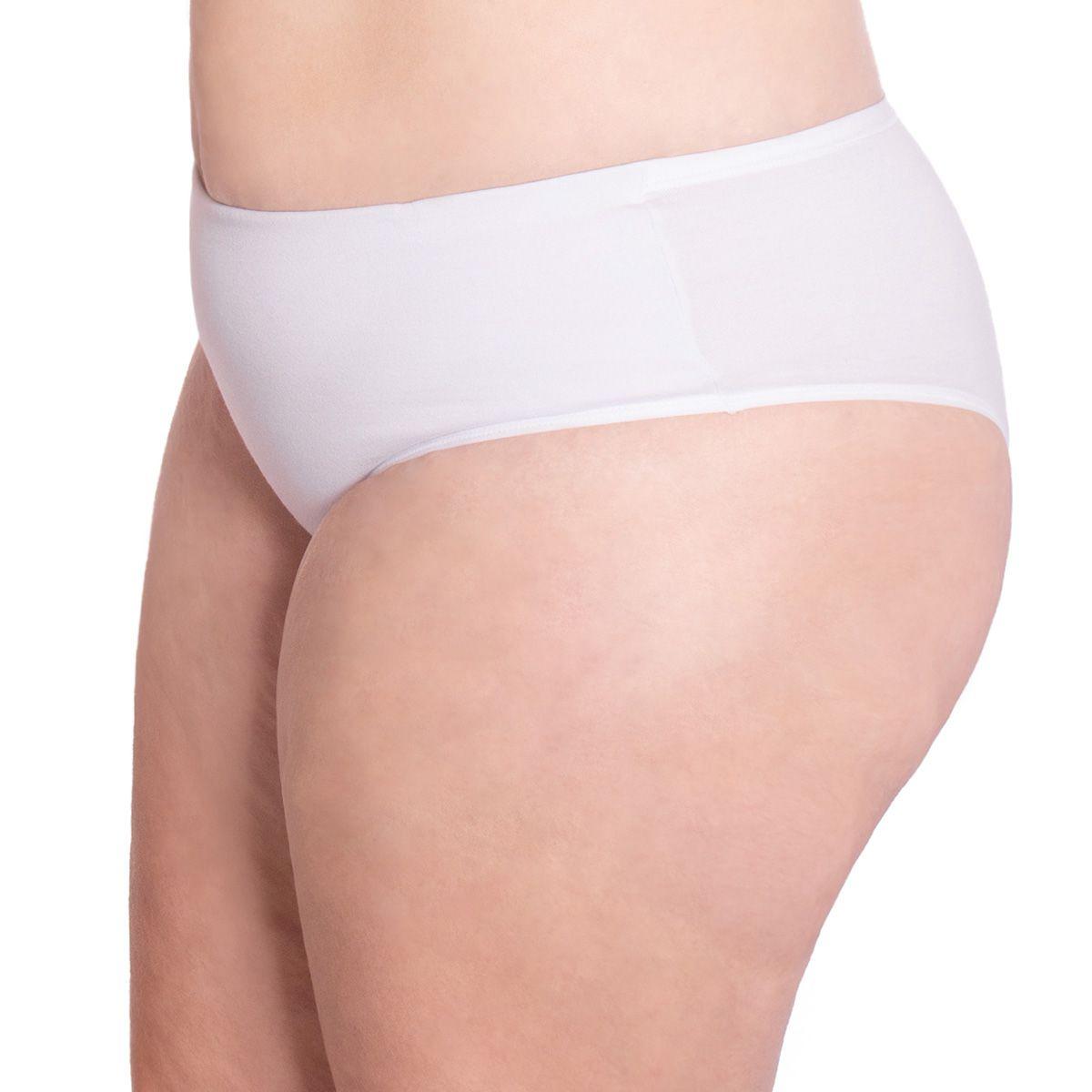 Calcinha cintura alta com tecido duplo de algodão coleção GLOSS Econfort