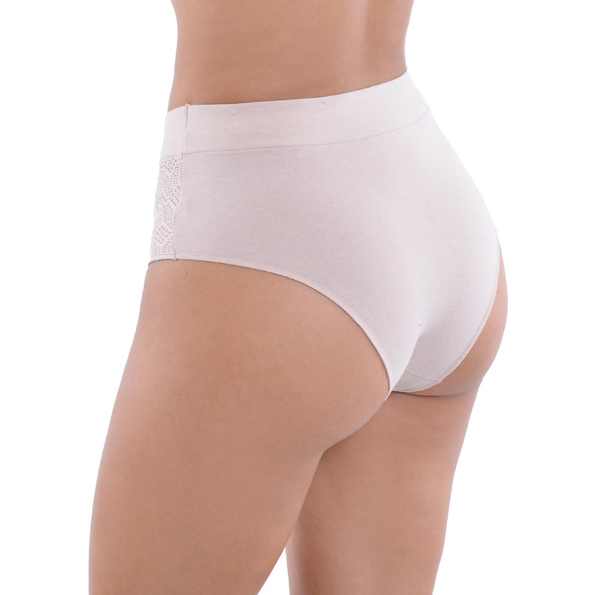 Calcinha cintura alta pala dupla em algodão Econfort