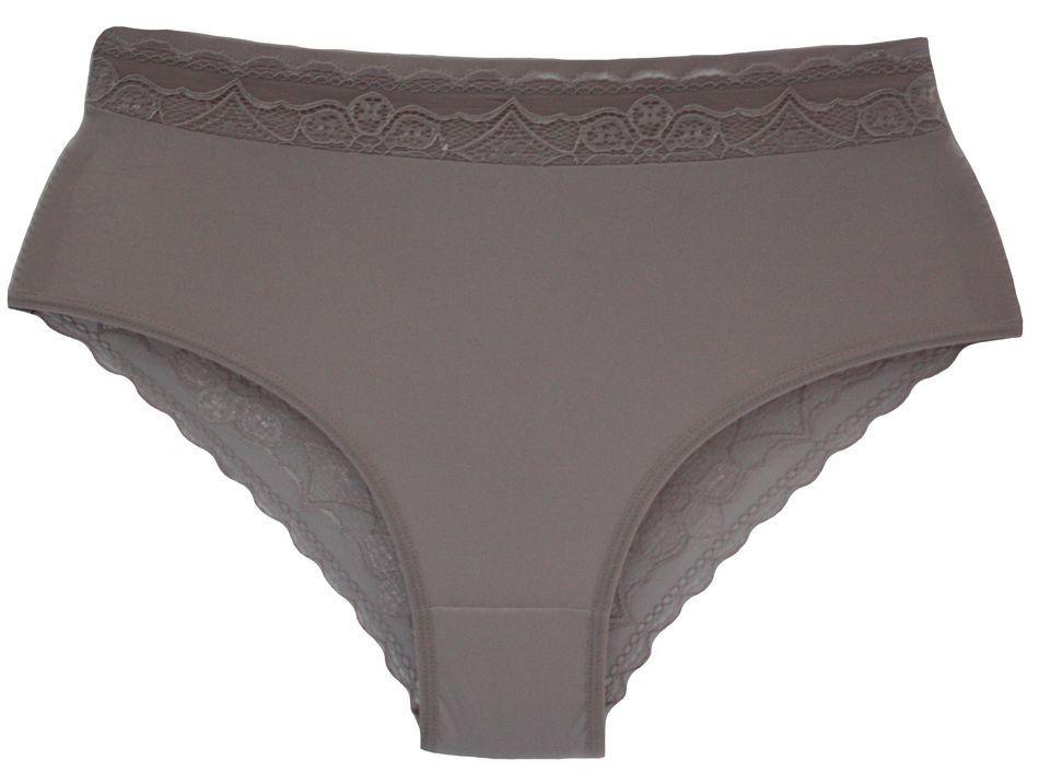 Calcinha cintura alta tanga renda microfibra Nayane Rodrigues -