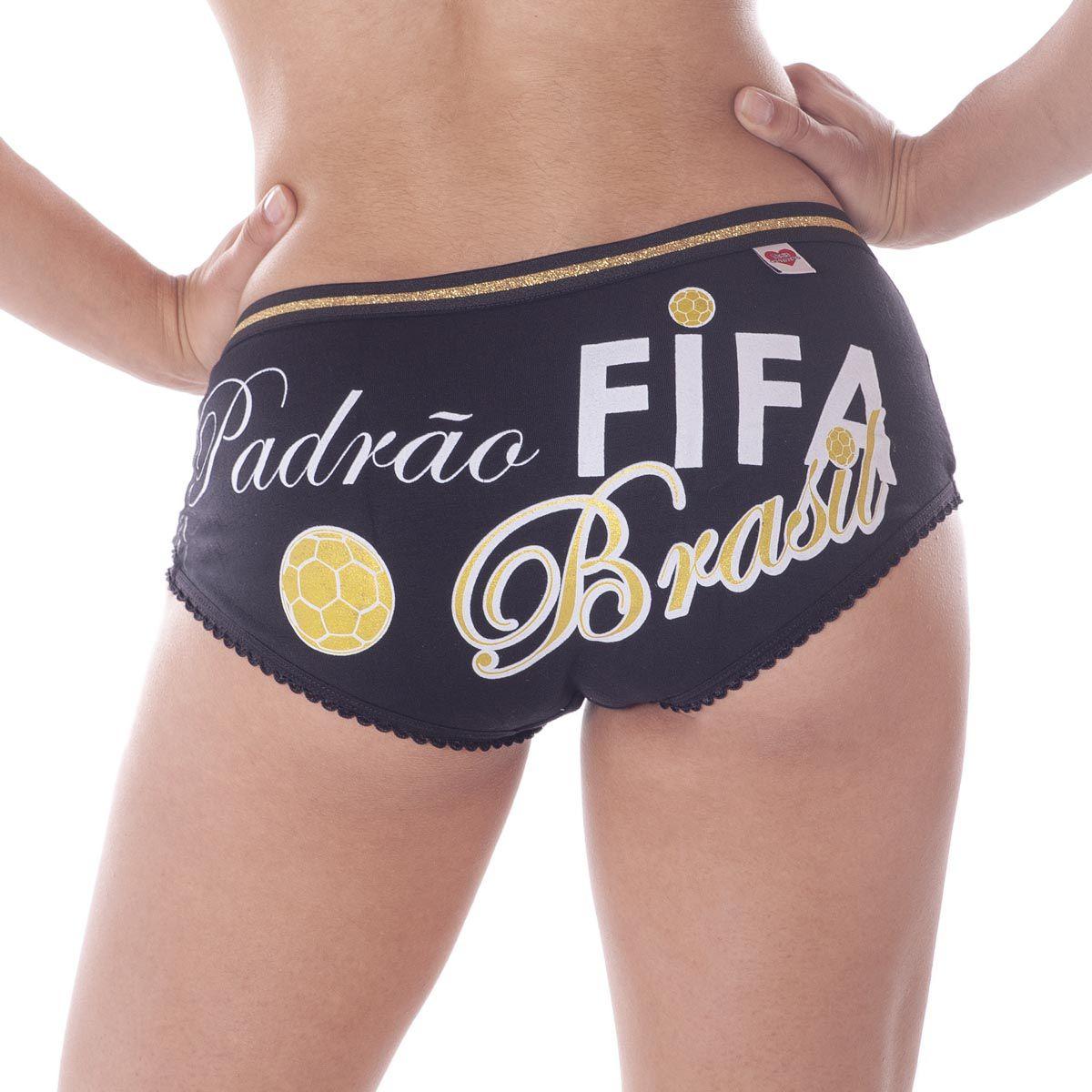 Calcinha Cueca Padrão Fifa  -