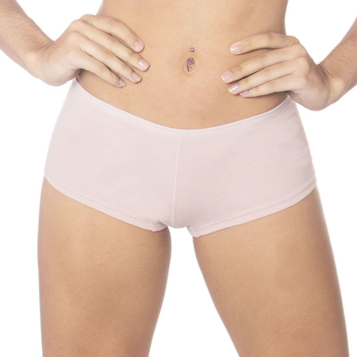 Calcinha de algodão modelo boxer coleção Gloss Econfort