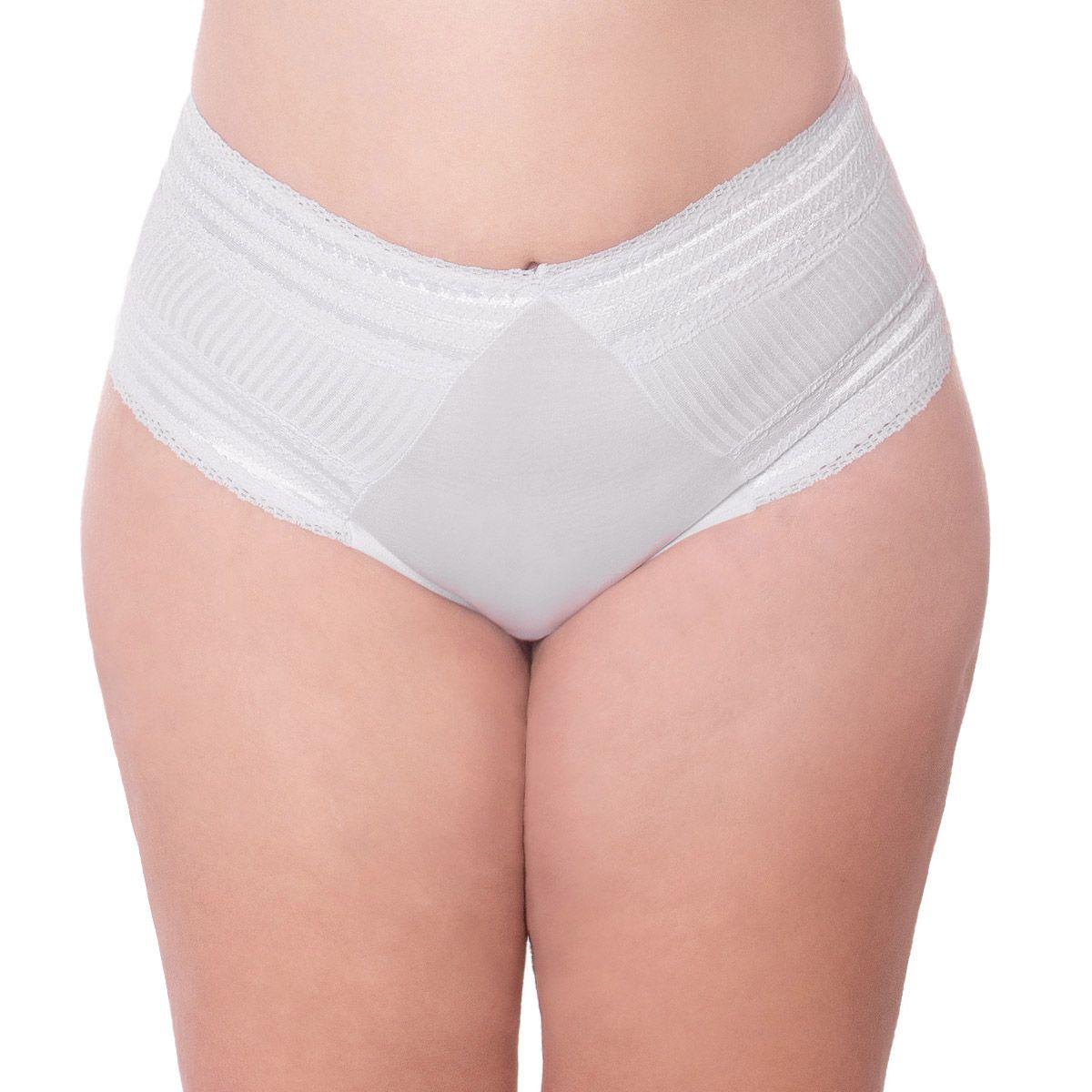 Calcinha de algodão modelo tanga cintura alta Linha Gloss Econfort