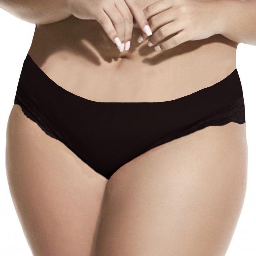 e2871e8ff ... Calcinha Feminina Plus Size Rendada Cintura Alta Liebe 701106 - Bra  Lingerie ...