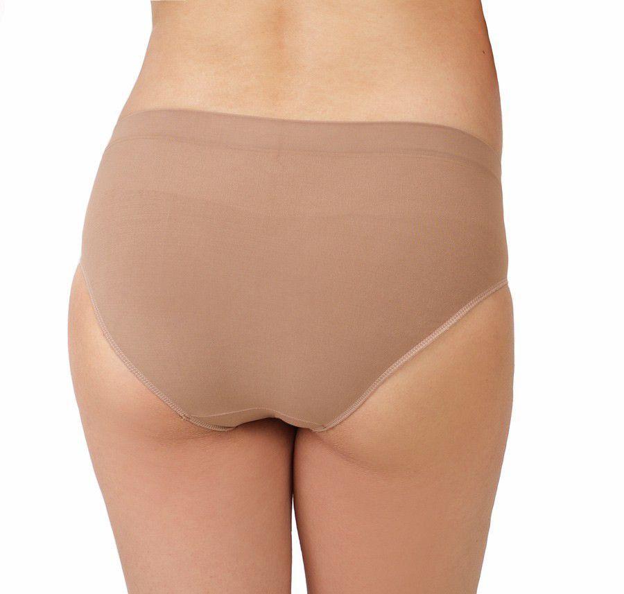Calcinha gestante sem costura alta lingerie moda intima Morisco -