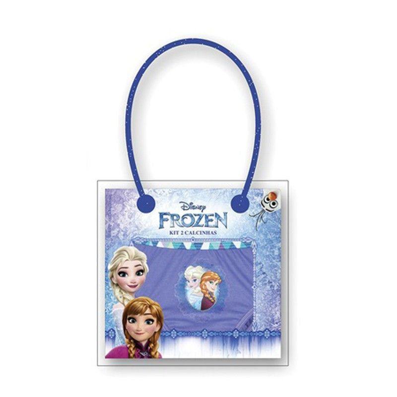 Calcinha infantil feminina algodão Kit com 2 estampada Frozen  Lupo