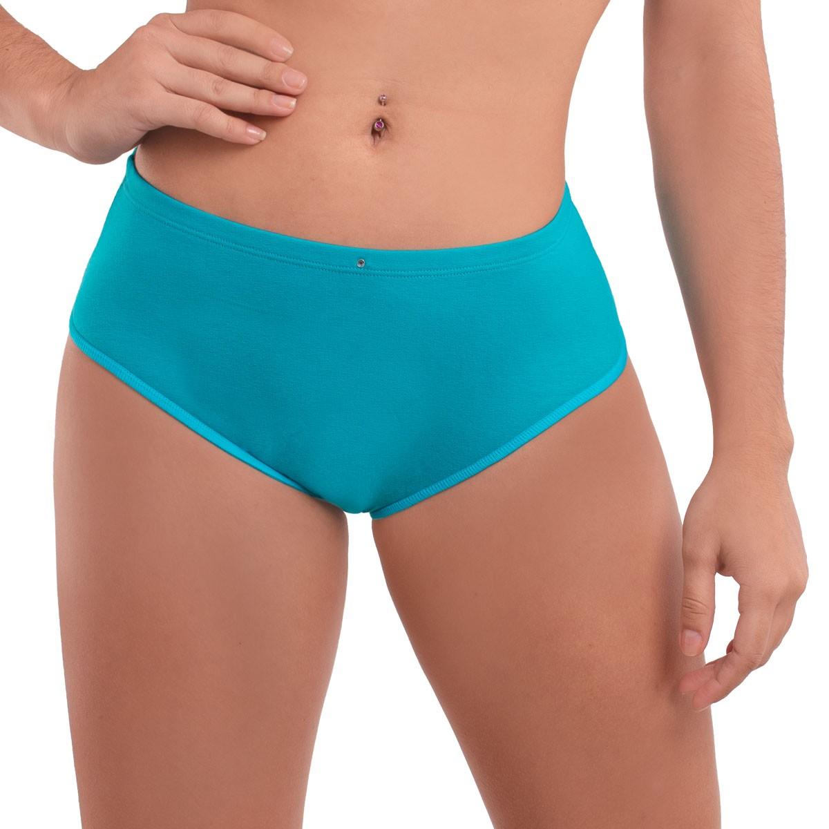 Calcinha larga e cintura alta em algodão KIT com 3 Diva Donna