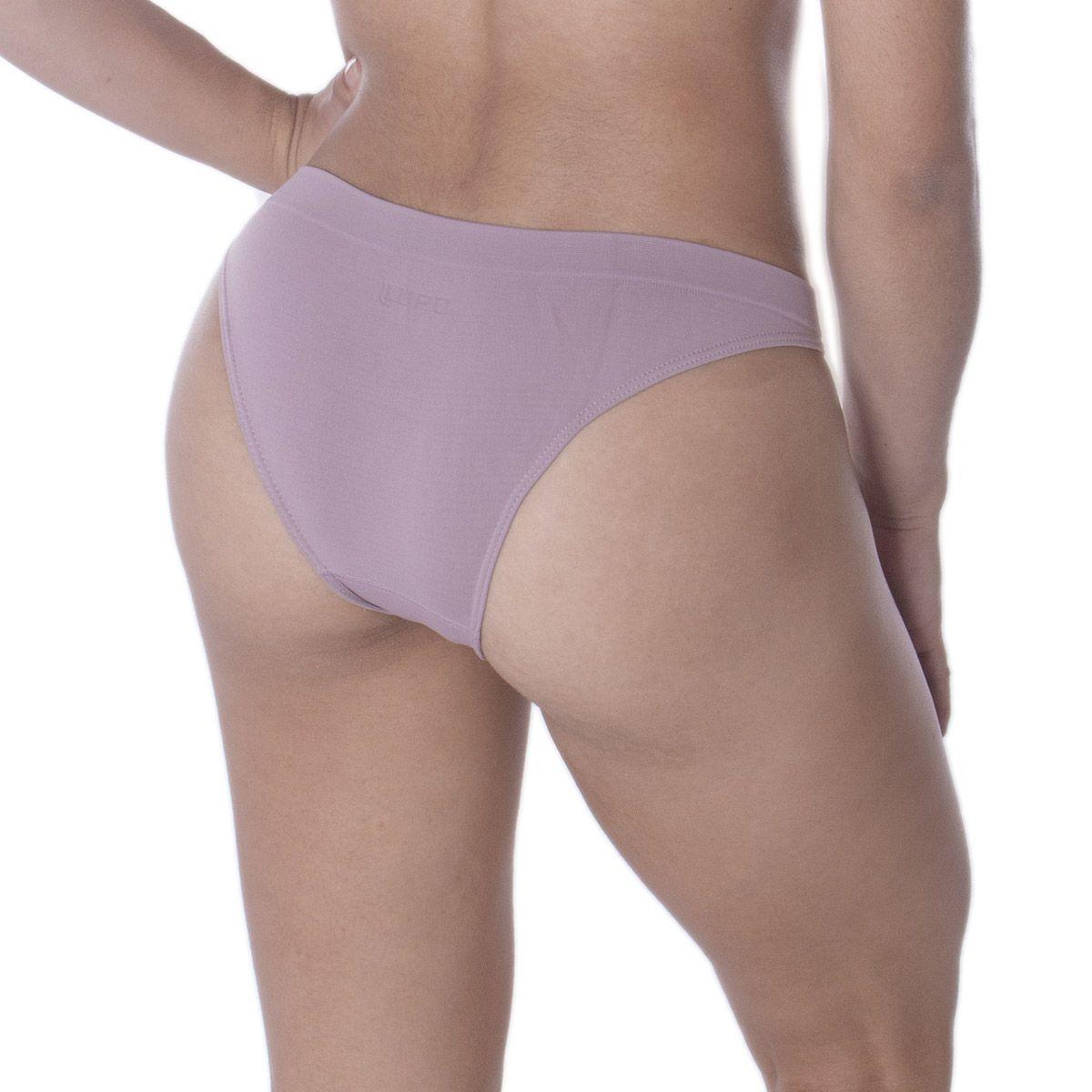 Calcinha moda intima lingerie feminina tanga sem costura microfibra Loba Lupo