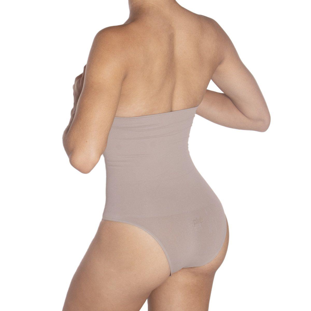 Calcinha modeladora cintura alta compressão redutora Plié