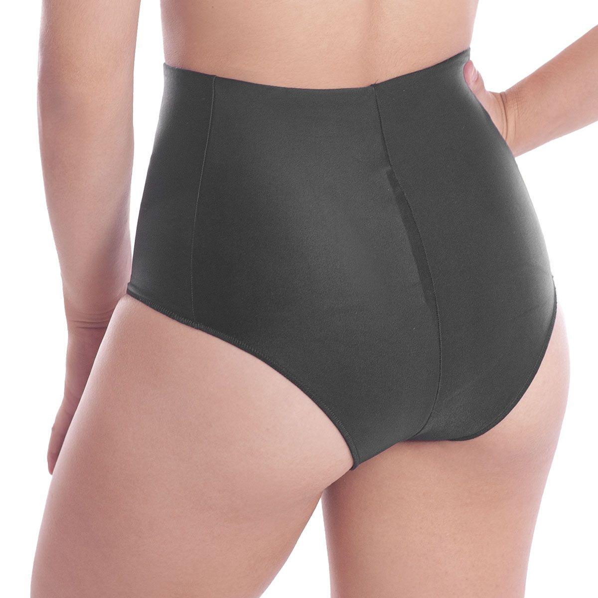Calcinha modeladora cintura alta de microfibra redutora de medidas Liebe