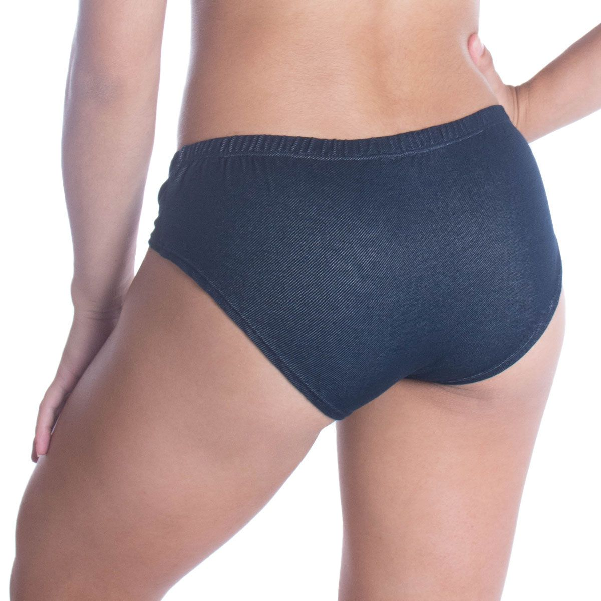 Calcinha modelo caleçon Jeans Gardenia  -