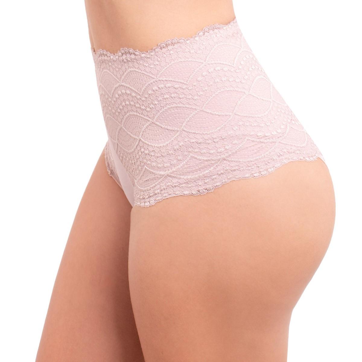 Calcinha modelo tanga cintura alta rendada Nayane Rodrigues