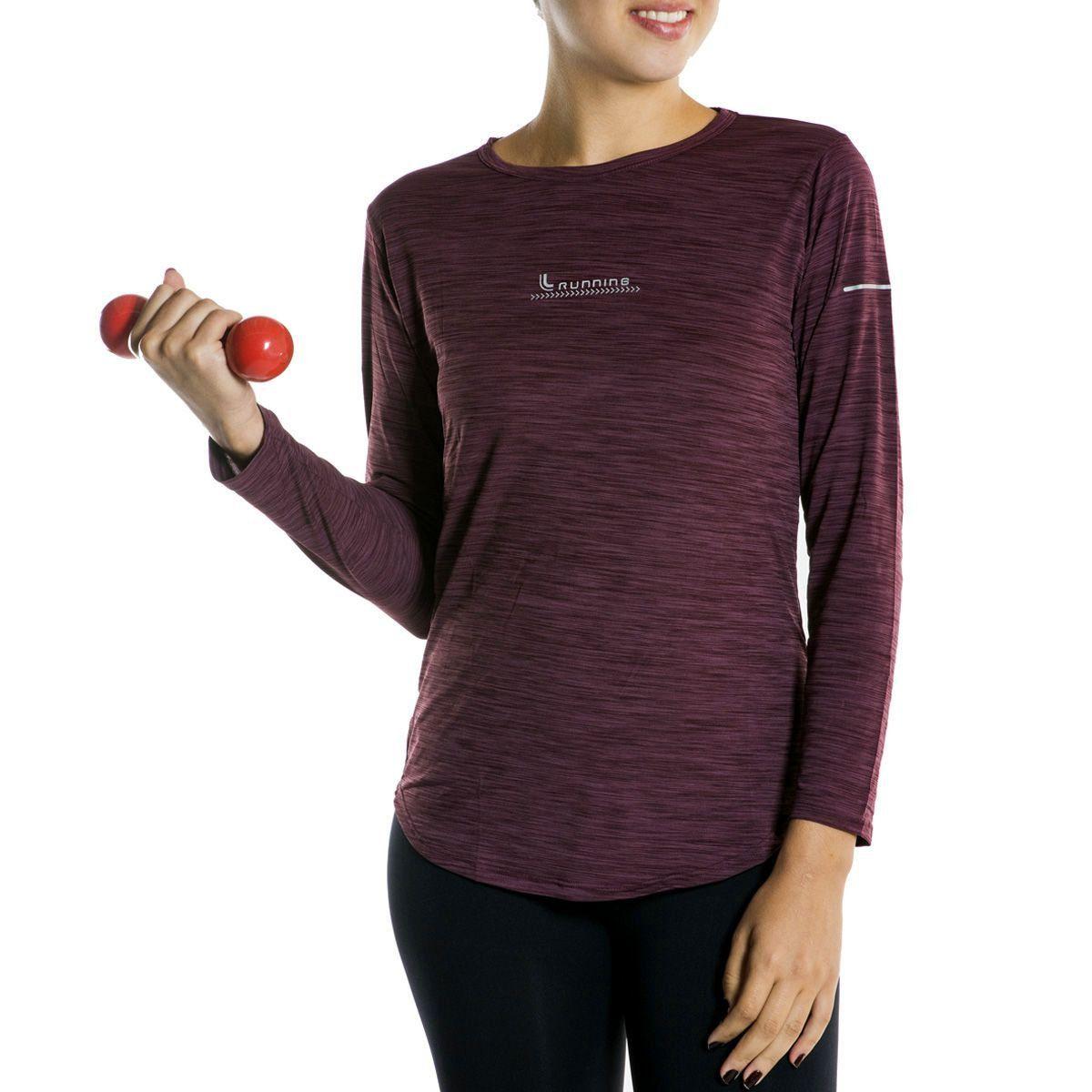 Camiseta Básica Lupo Sport Manga Longa Feminina -