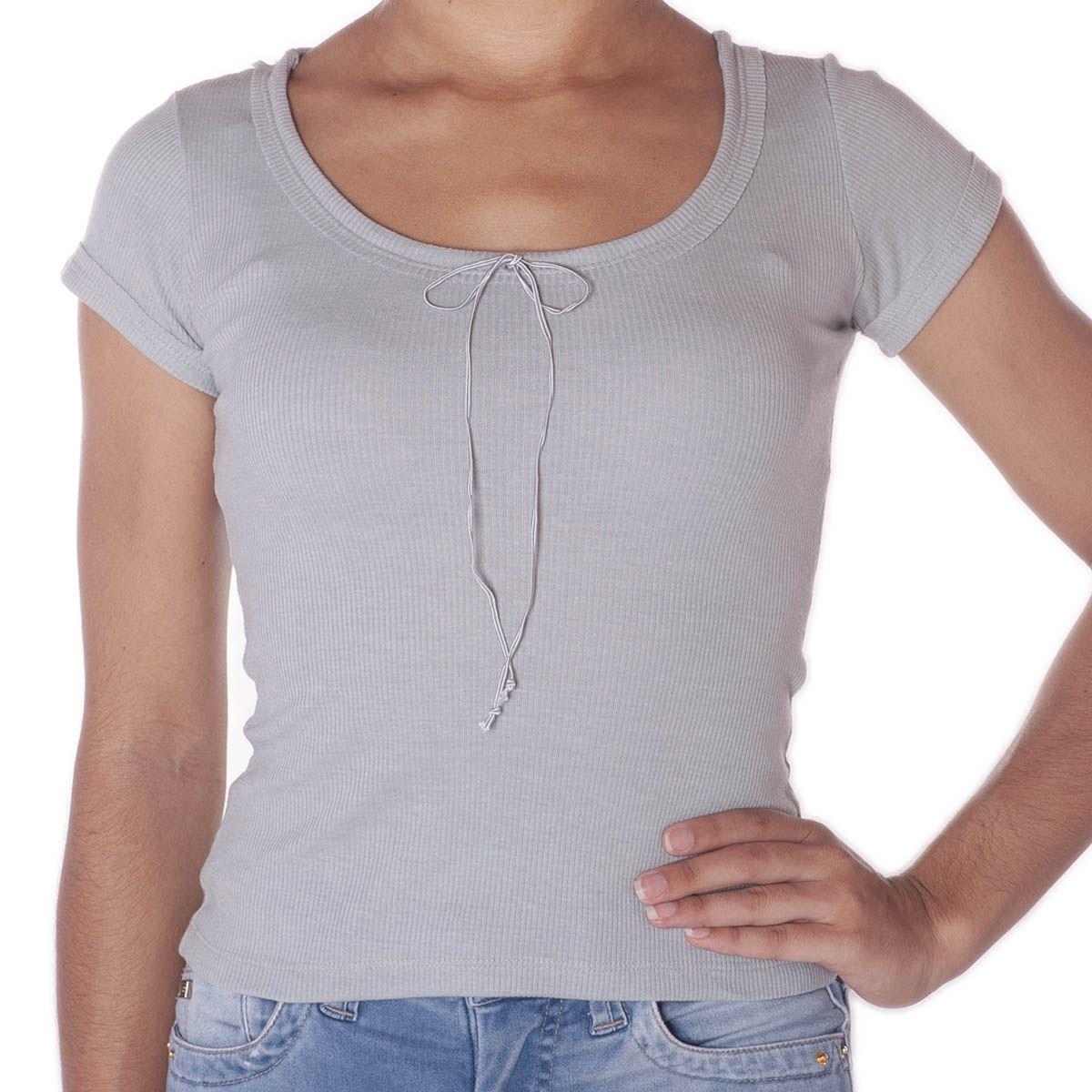 Camiseta Canelada Lisa  -