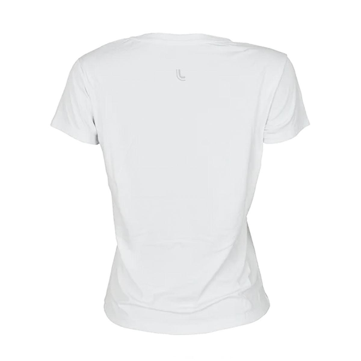 Camiseta feminina para academia e corrida com proteção solar Lupo