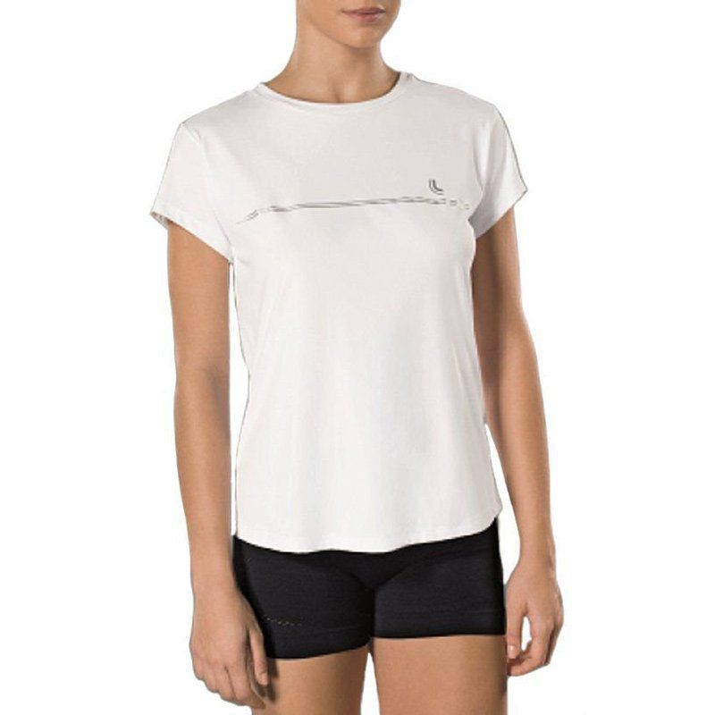 Camiseta feminina para academia e corrida com proteção solar Lupo 77052