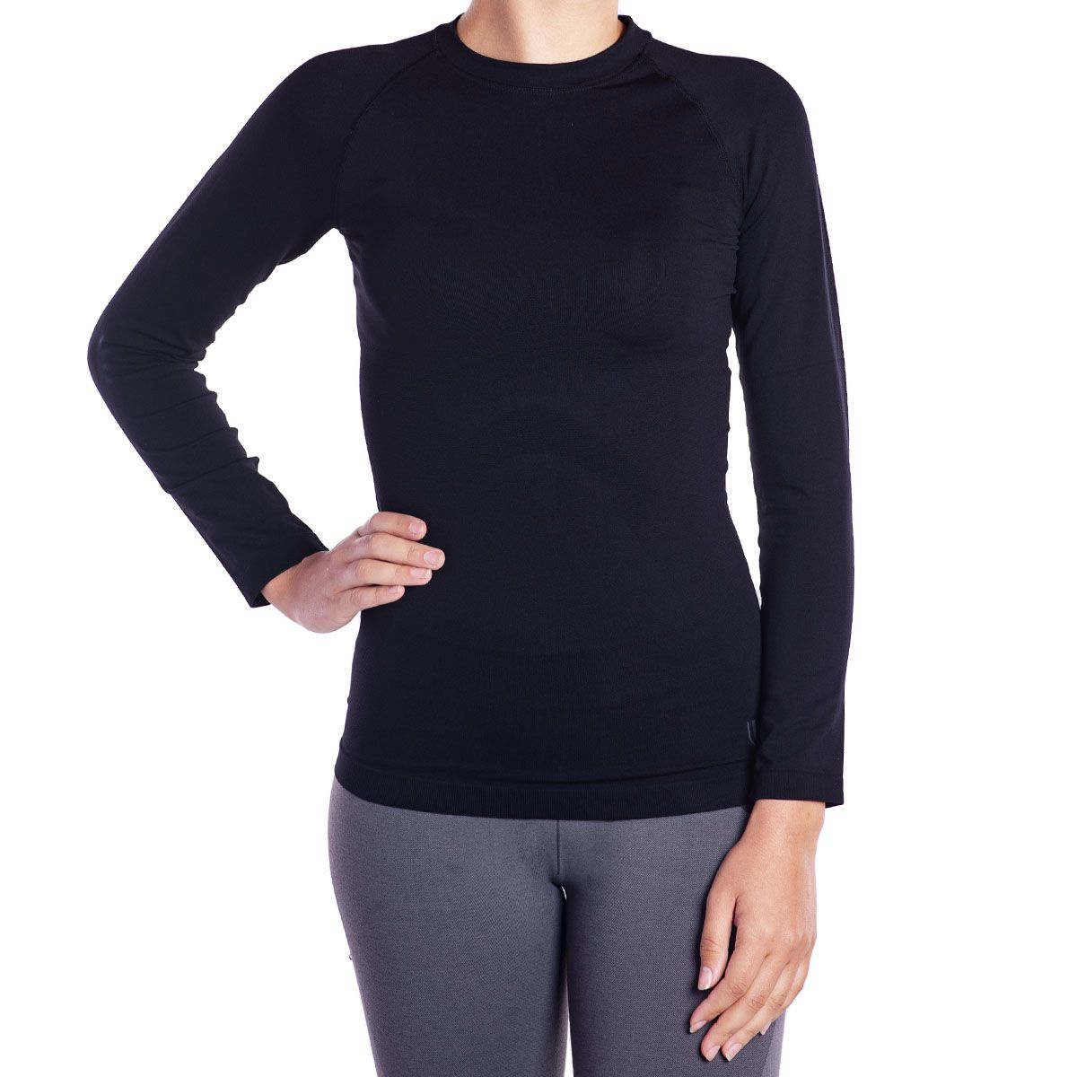 Camiseta Feminina Sem Costura Manga Longa Térmica i-max Lupo