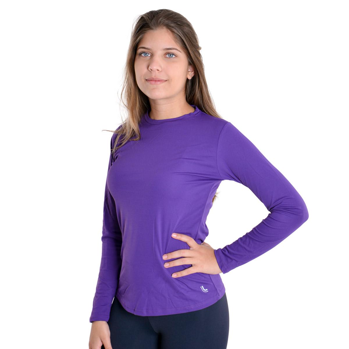 Camiseta feminina térmica proteção UV repelente roupa academia Lupo