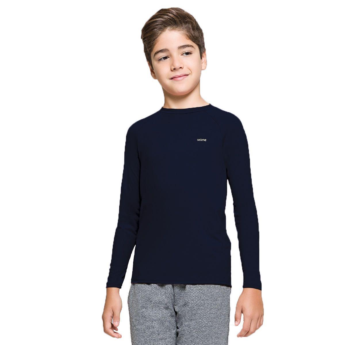 Camiseta juvenil manga longa com proteção UV Selene