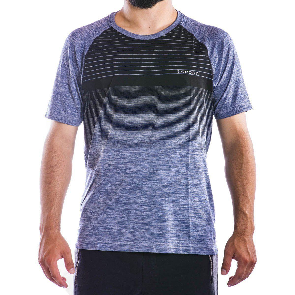 Camiseta Listras Lupo Sport Masculina -
