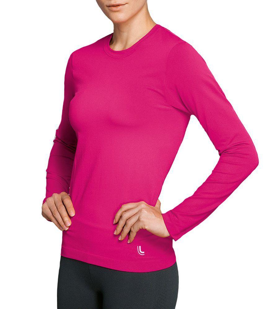 Camiseta Lupo Feminina Térmica Com Proteção UV Manga Longa  Lupo