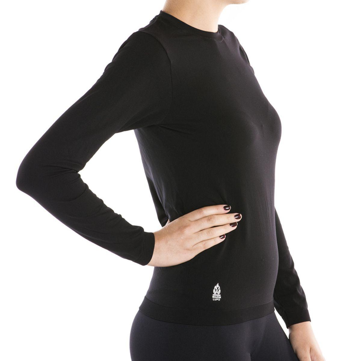 Camiseta Lupo Manga Longa Under Warm Feminina térmica