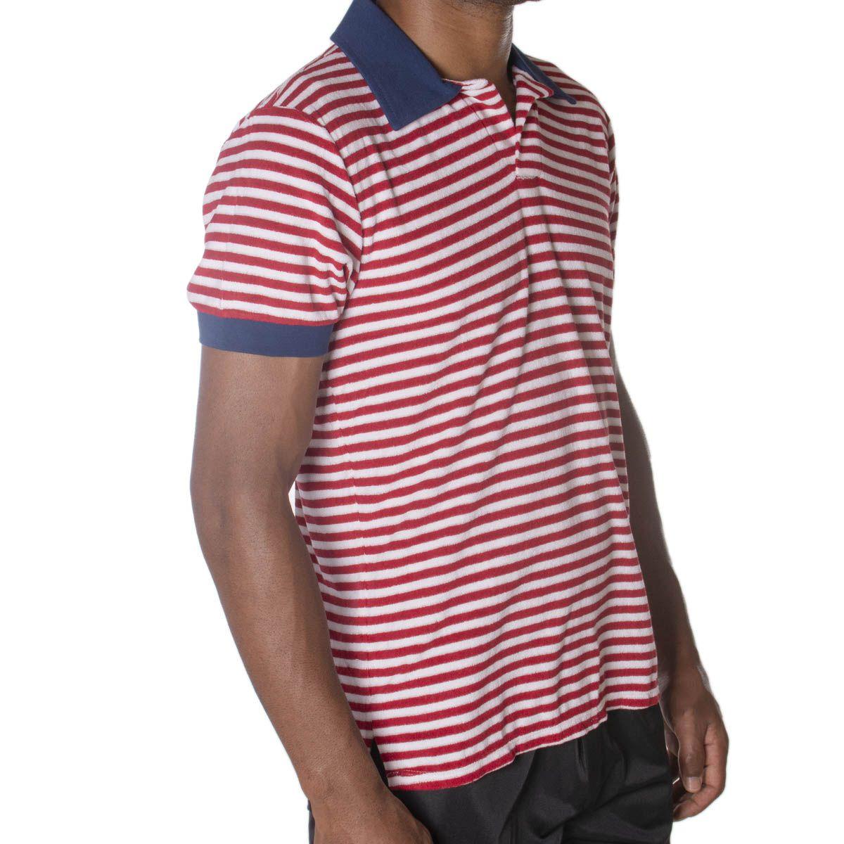 Camiseta masculina listrada polo  -