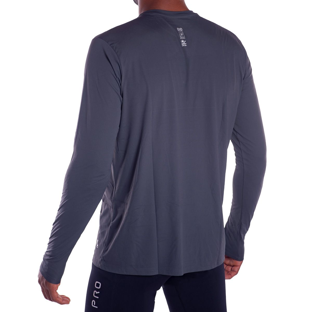 Camiseta masculina manga longa com proteção UV e repelente Lupo