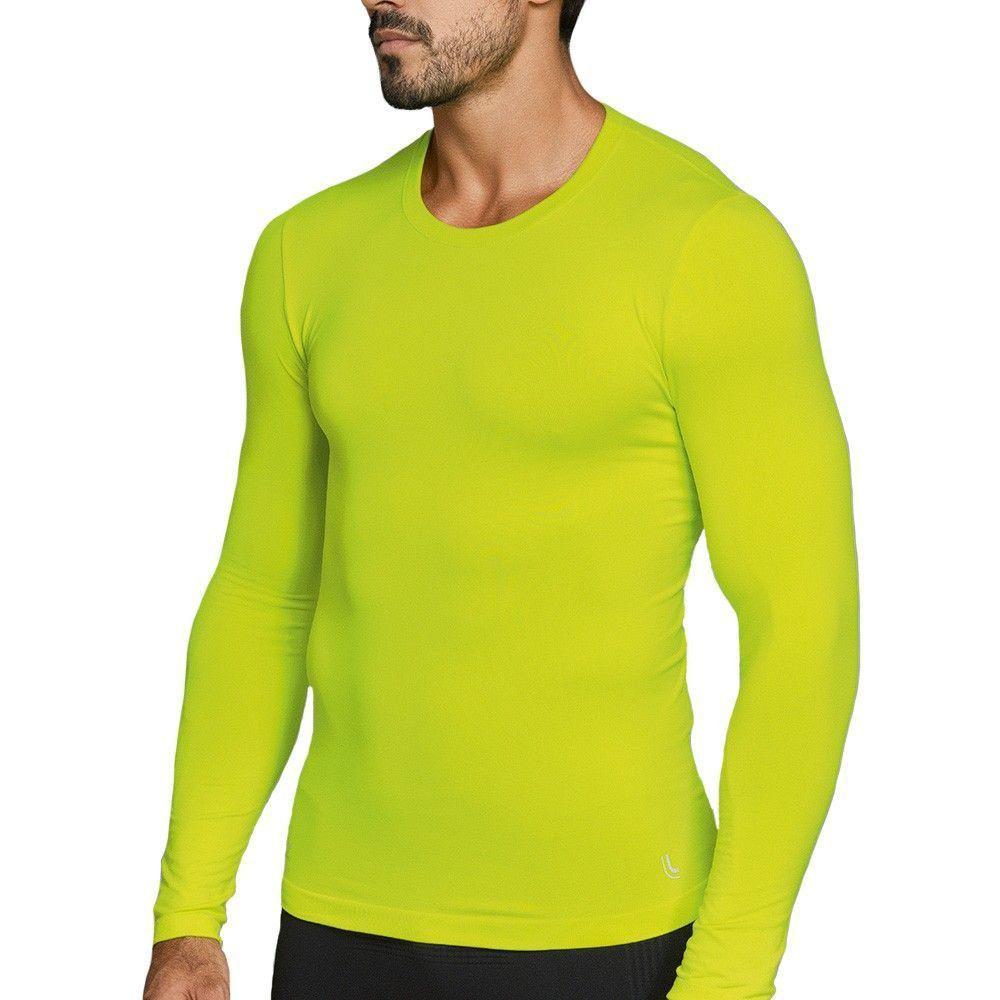 Camiseta Masculina manga Longa Proteção UV Lupo