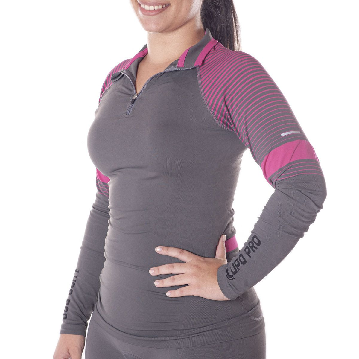 Camiseta para ciclismo manga longa feminina Lupo .