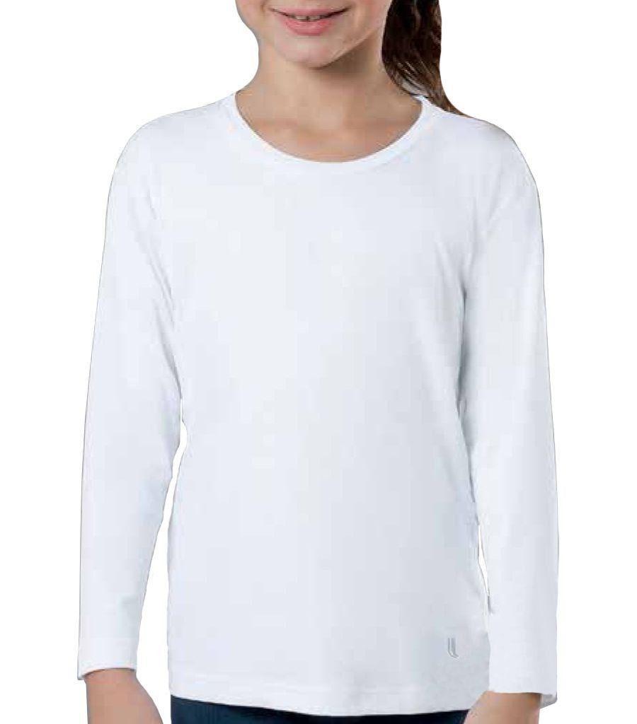 Camiseta unissex proteção UV repelente infantil Lupo