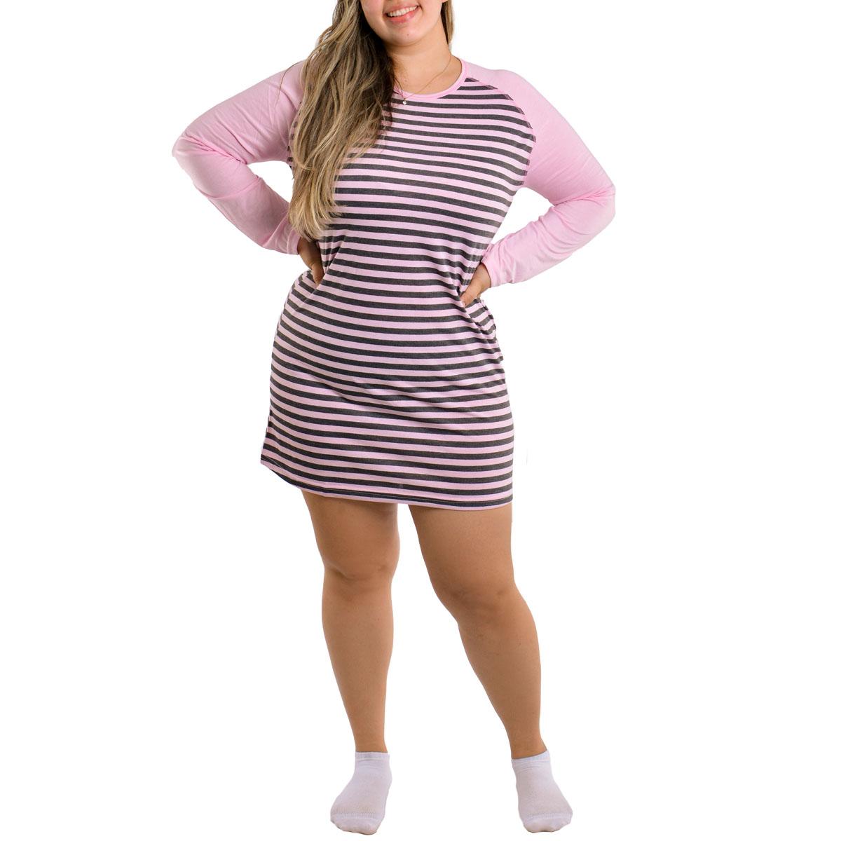 Camisola feminino plus size para o inverno LISTRADA Victory