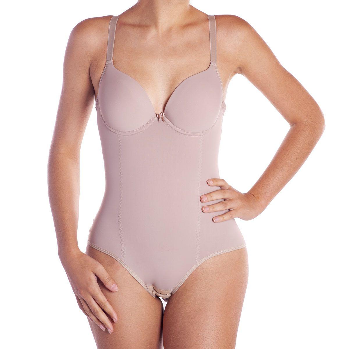 Cinta body modelador com bojo compressão Leluc -