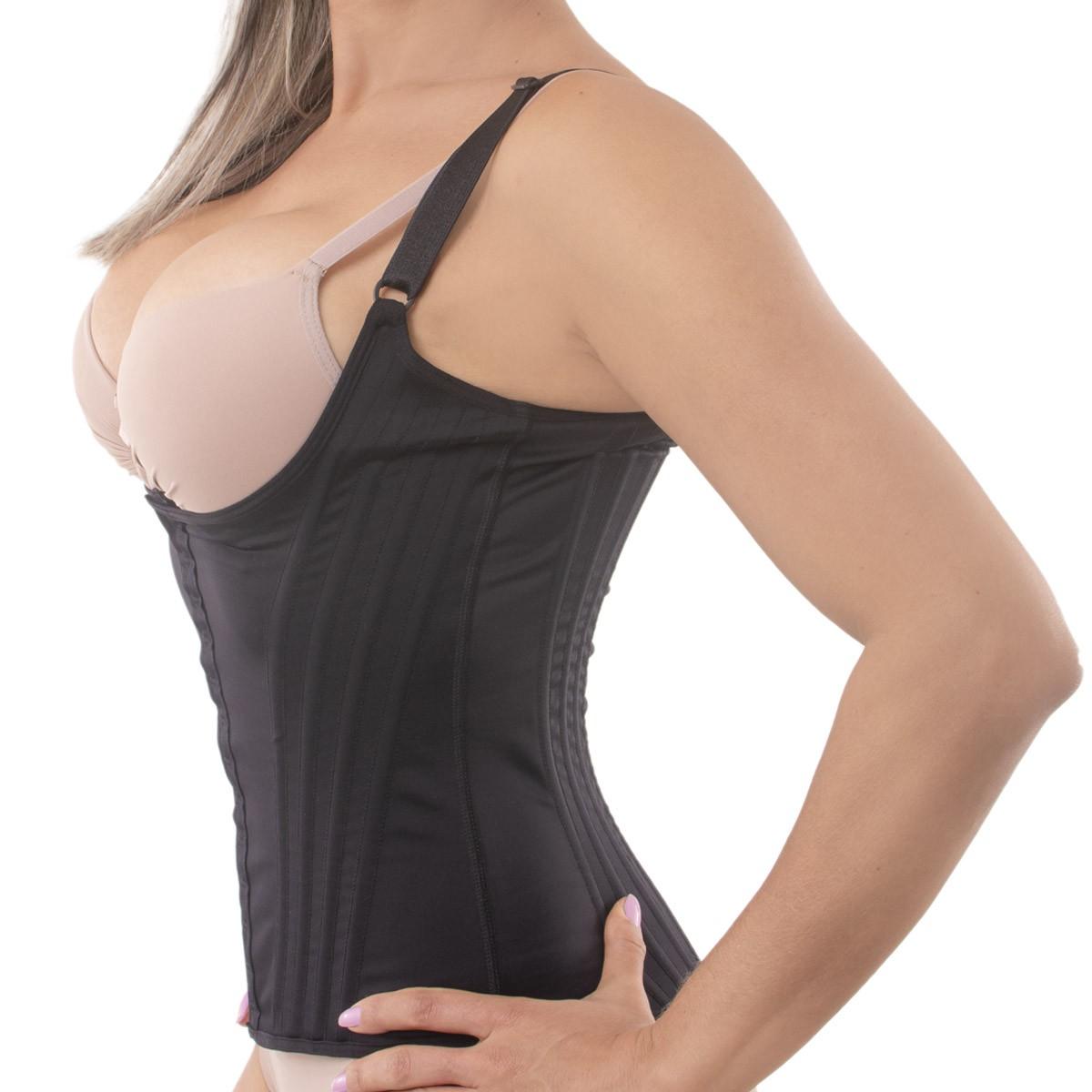 Cinta modeladora corselet com 16 barbatanas Princesa Catarina