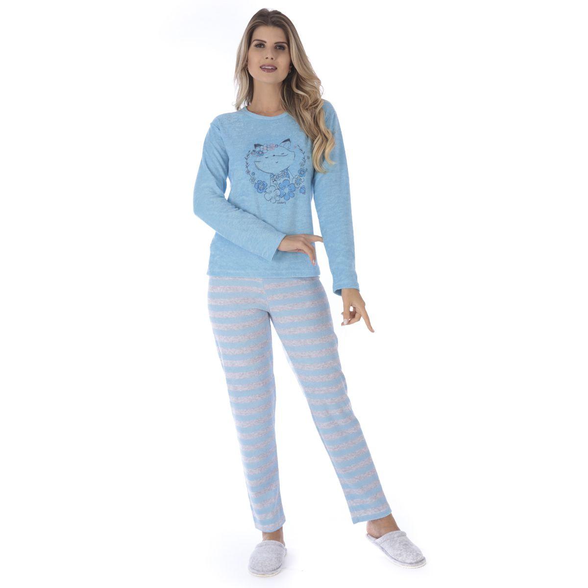 Pijama de inverno feminino LISTRADO Victory