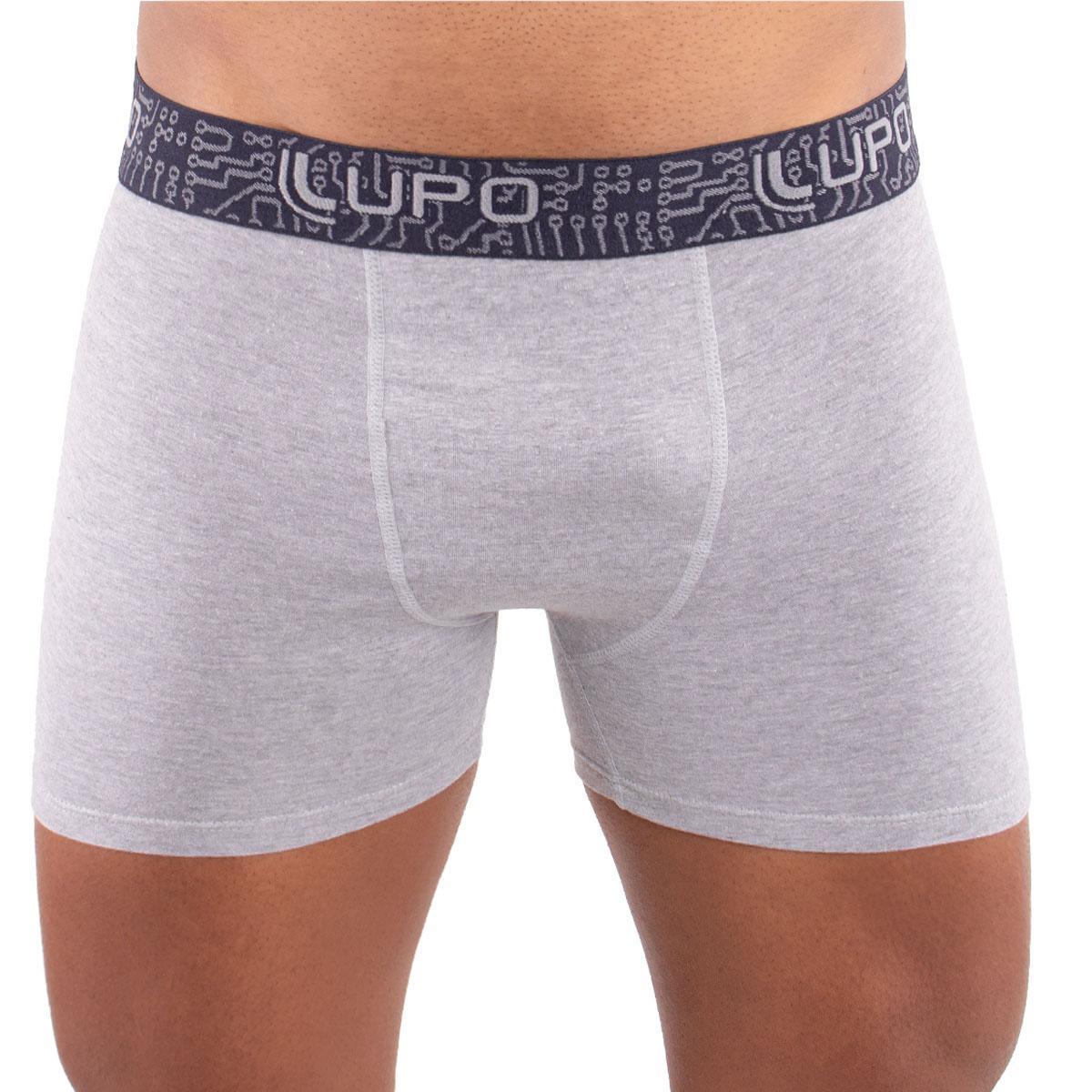 Cueca algodão boxer masculina adulto Lupo .