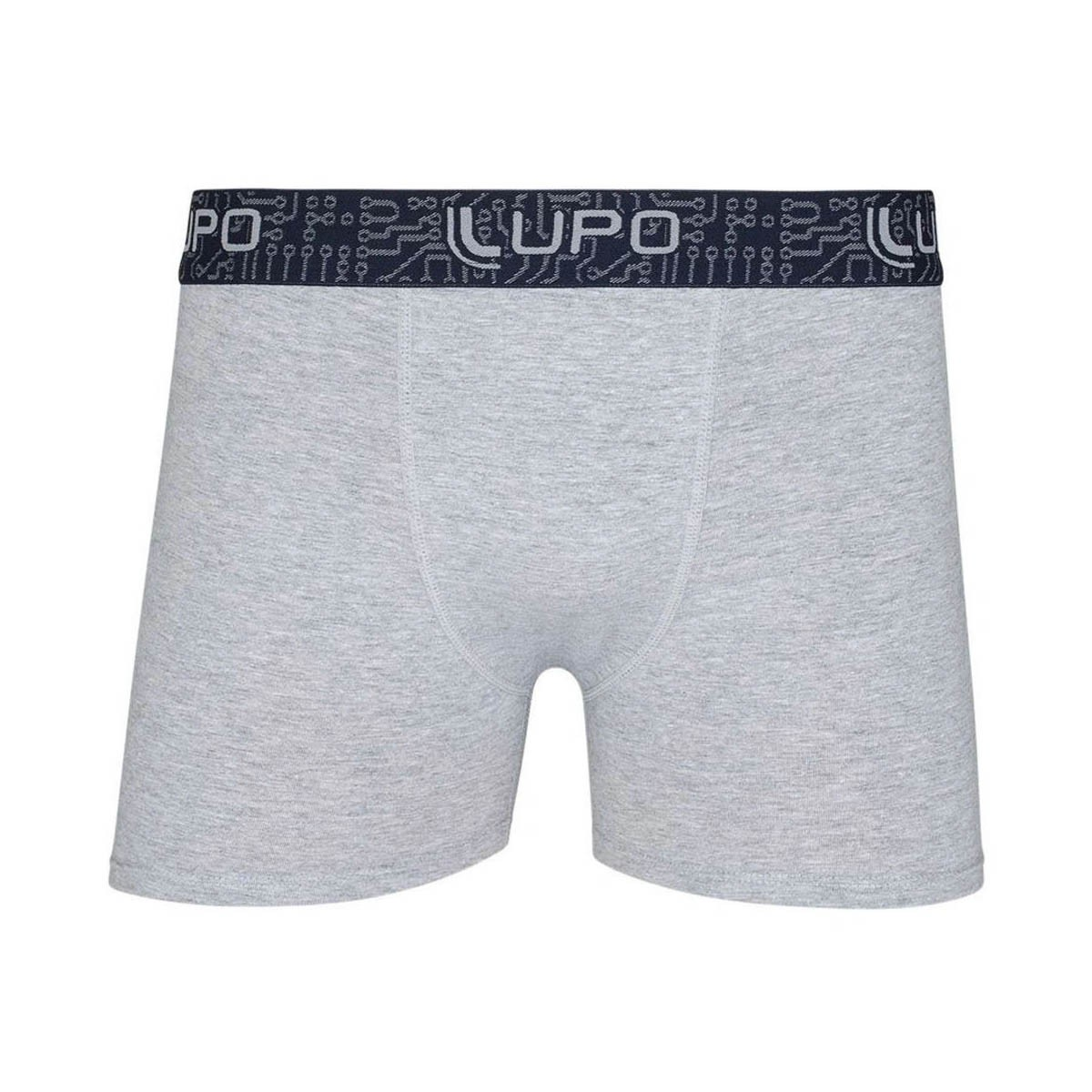 Cueca algodão boxer masculina adulto Lupo