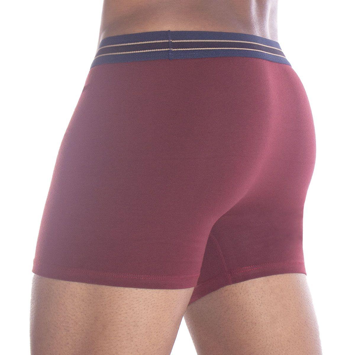 Cueca boxer algodão masculina adulto Lupo -
