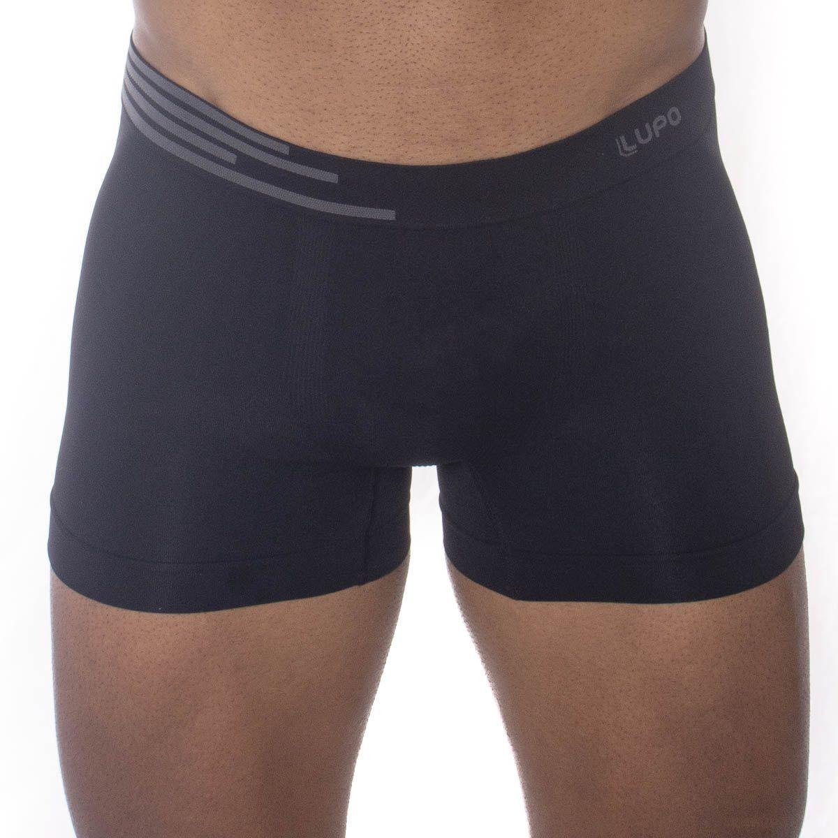 Cueca Boxer Lupo Sem Costura KIT 2 cuecas masculina adulto microfibra