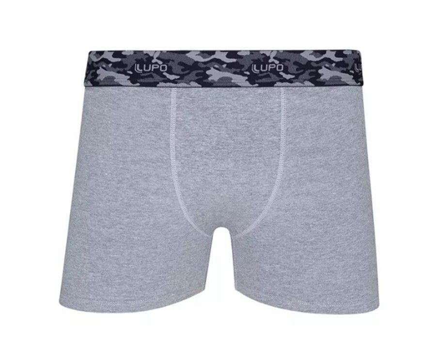 Cueca boxer masculina adulto algodão Lupo