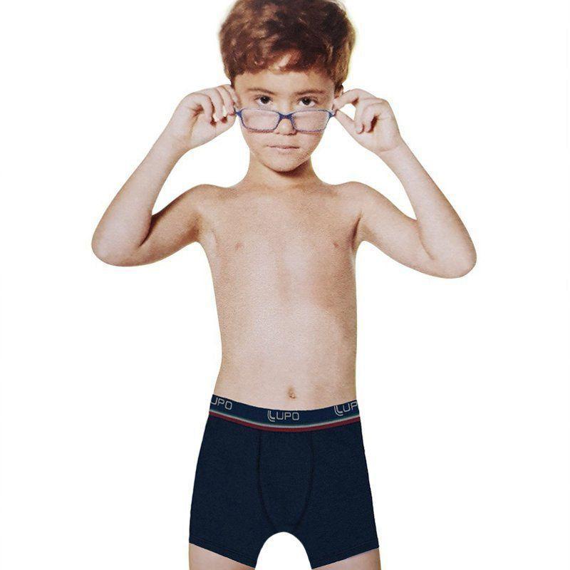 Kit com 2  Cuecas boxer infantil  Lupo