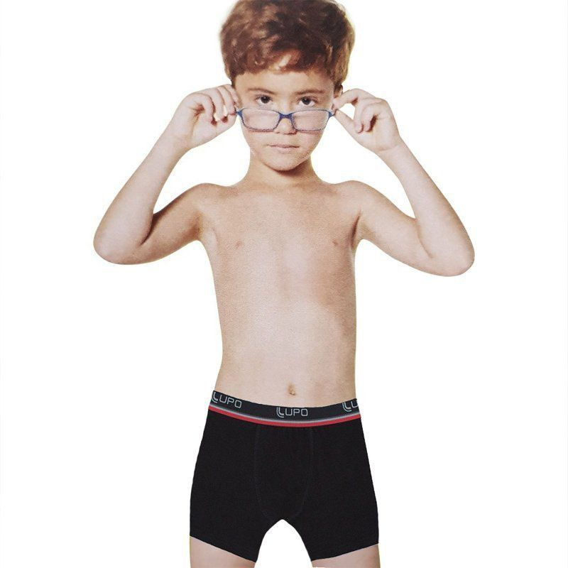 Kit com 2  Cuecas boxer infantil  Lupo - ref.141