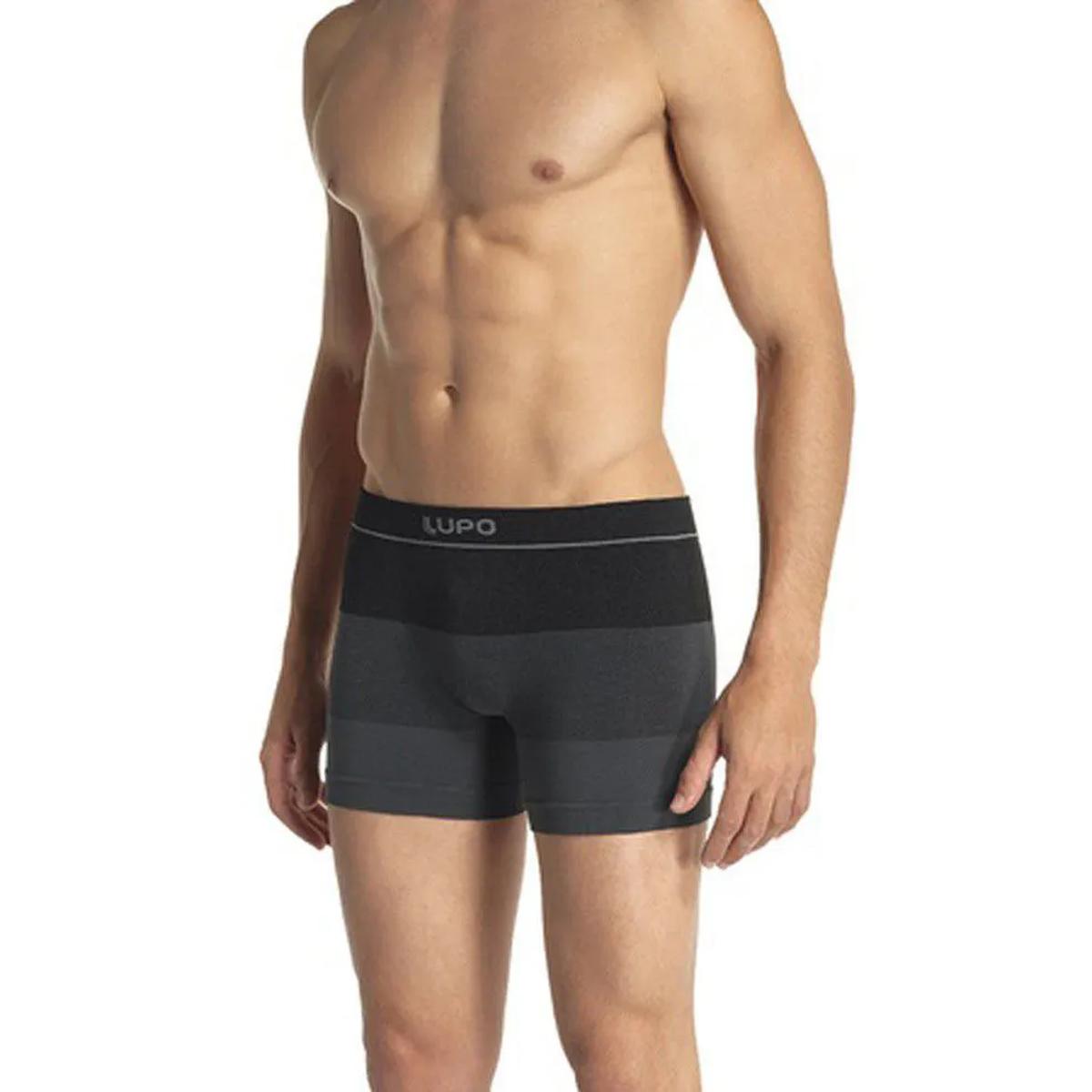 Cueca boxer masculina Lupo box sem costura .