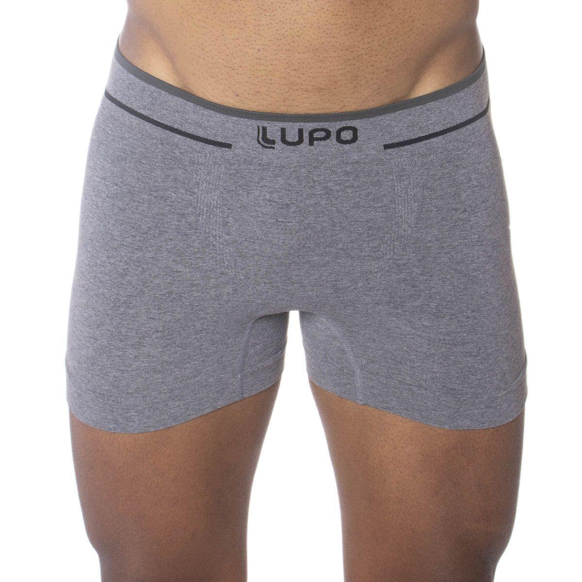 Cueca boxer masculina sem costura Lupo