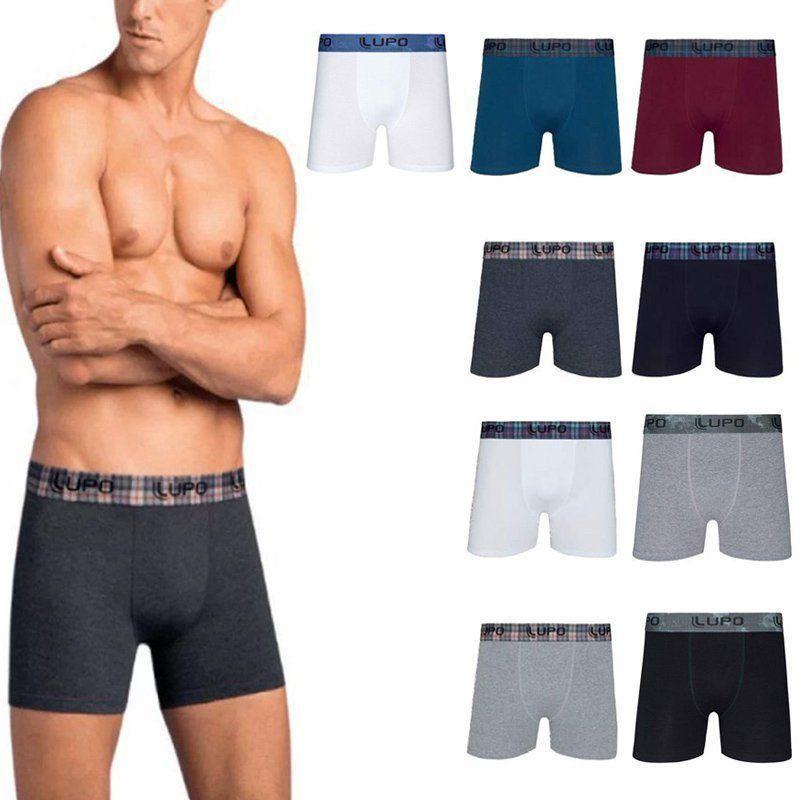 Cueca Boxer Lupo kit com 10 cuecas em algodão