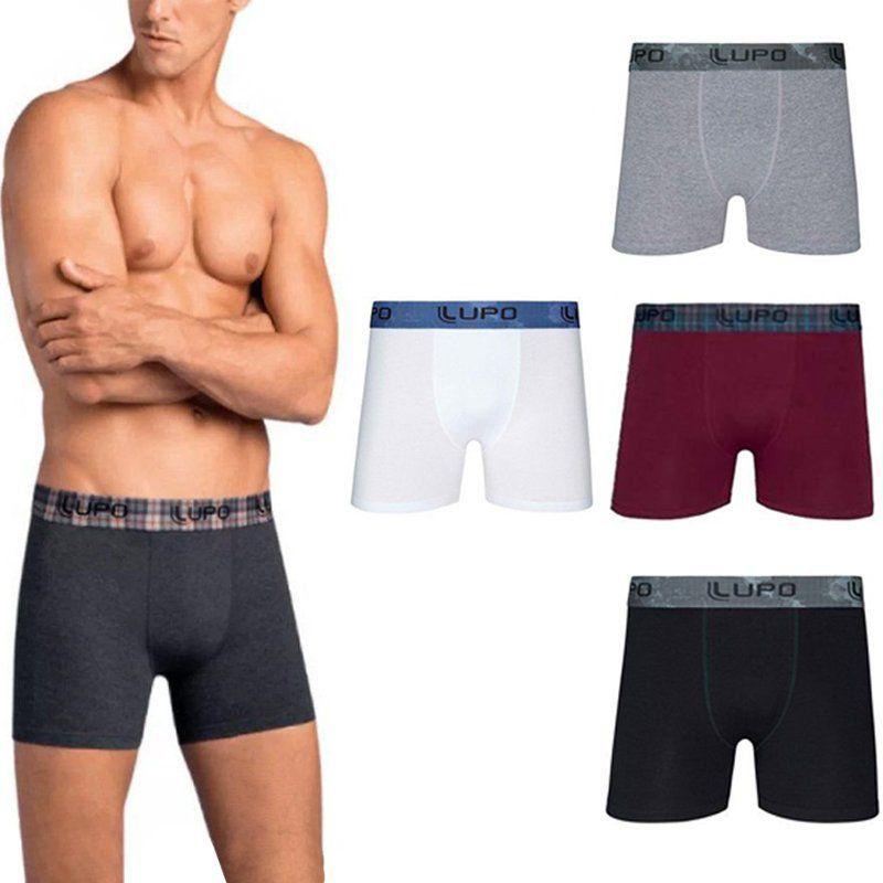 Cueca Boxer Lupo - kit com 5 boxers em algodão
