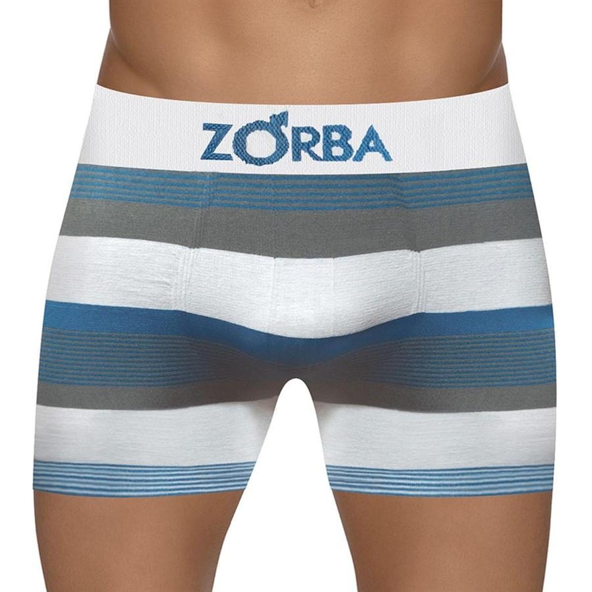 Cueca masculina boxer listrada em algodão Seamless Zorba