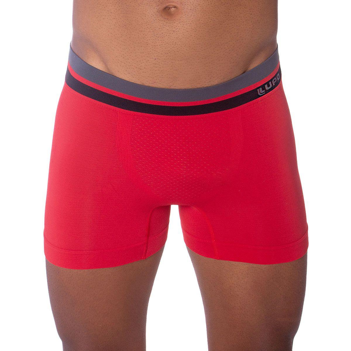 Cueca masculina boxer sem costura Lupo
